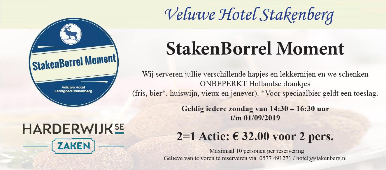Stakenborrelmoment Veluwe Hotel Stakenberg Elspeet
