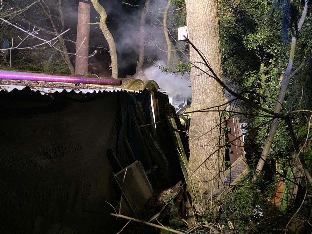 Sauna brand chalet Horsterweg Ermelo
