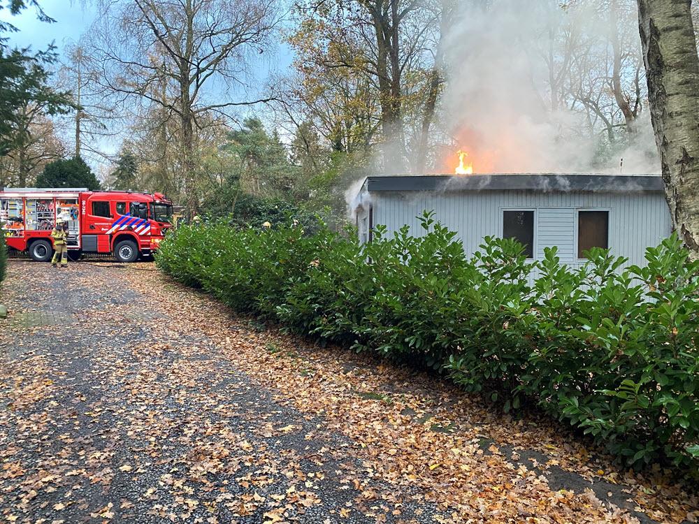 Brand chalet Horsterweg Ermelo