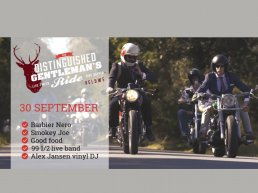 Café racers en driedelig tweed tijdens Gentleman's Ride.