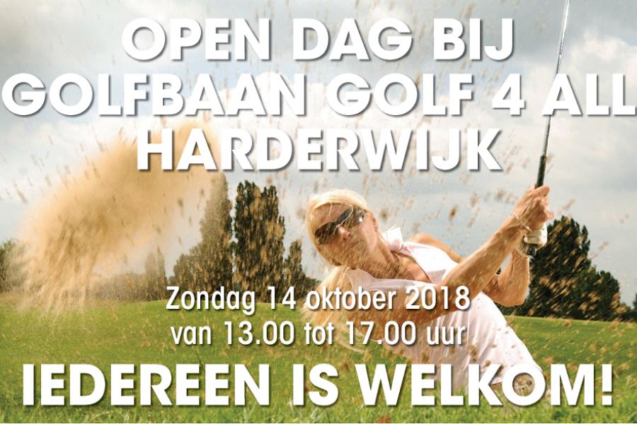 Maak kennis met de golfsport zondag 14 oktober bij Golfclub Harderwold