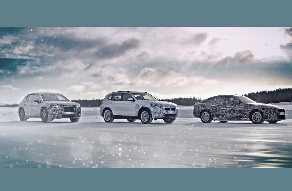 BMW iX3, i4 en iNEXT getest in extreme winterse omstandigheden