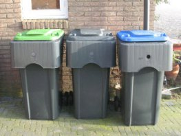 Laatste lediging oude containers GFT in Ermelo