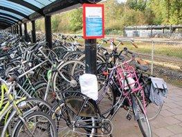 Verwijdering fout geparkeerde fietsen station