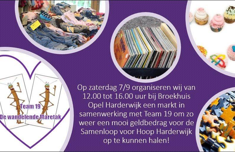 Broekhuis Opel Harderwijk organiseert een markt voor SamenLoop voor Hoop
