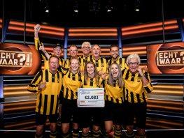 DVS'33 Ermelo wint € 2.083,00 in SBS6 programma Echt Waar?!