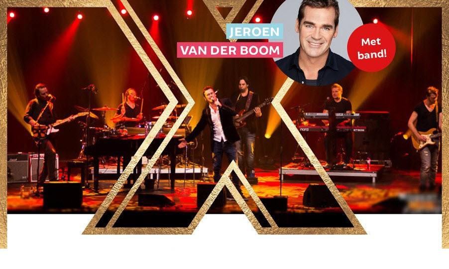 Exclusieve dinershow met een live optreden van Jeroen van der Boom met band, Stefan Storm en Ruud Versteeg