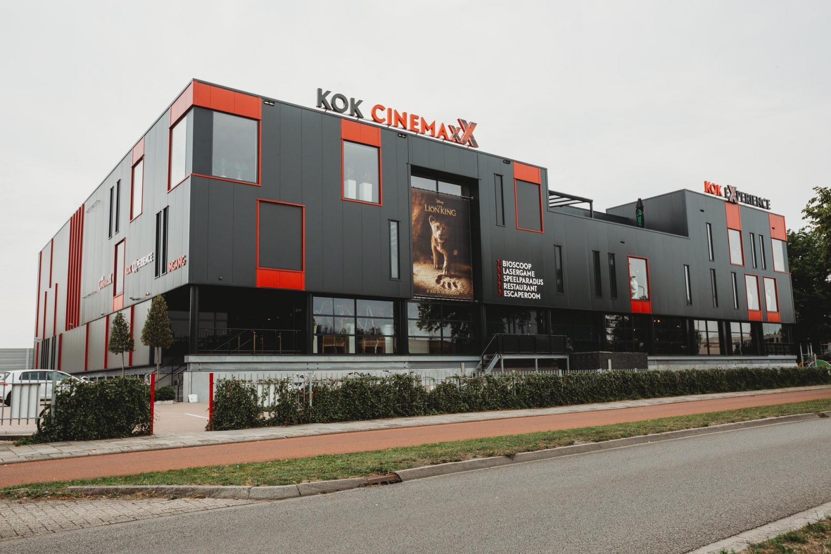 Kok Experience B.V. en Kok CinemaxX zijn tot en met maandag 6 april gesloten
