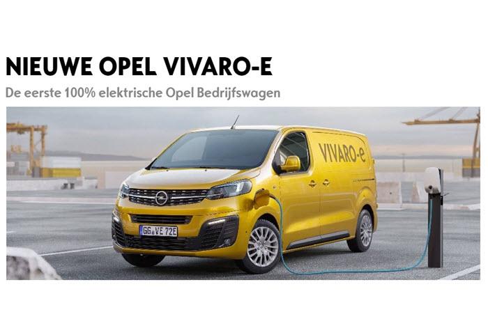 De eerste 100% elektrische Opel Bedrijfswagen: de nieuwe Opel Vivaro-e