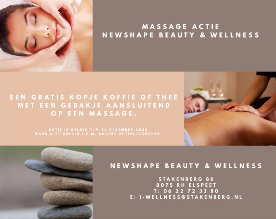 Massage actie Newshape Beauty & Wellness