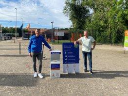 FC Horst coronaproof dankzij hygiëne displays en informatieborden Rabobank
