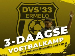 Deze zomer 3-daagse voetbal-clinic bij DVS'33 Ermelo