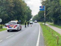 Ongeluk met paardentrailer op de A28: agenten uitgescholden!