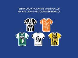 Steun jouw favoriete voetbalclub in Harderwijk en Ermelo en kies Carwash Special!