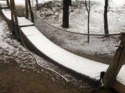 Loopbrug in Indianenbos Ermelo vernield!