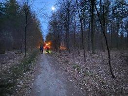 Beginnende bosbrand Ermelo