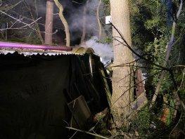 Brand in een kleine sauna aan de Horsterweg in Ermelo