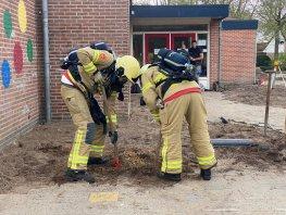 Brandweer Ermelo rukt uit voor gaslucht op school