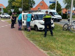 Wielrenner aangereden rotonde Hamburgerweg/Putterweg in Ermelo