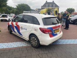 Ongeval met auto en fietser op de parkeerplaats bij de Albert Heijn in Ermelo