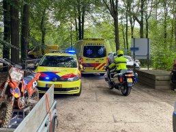 Meerdere motoren in botsing bij Motorclub Volgas in Ermelo